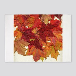 Fall Sugar Maple Leaves 5'x7'Area Rug