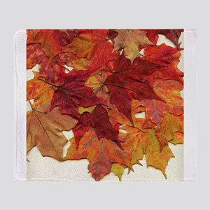 Fall Sugar Maple Leaves Throw Blanket