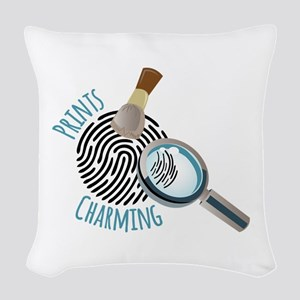 Prints Charming Woven Throw Pillow
