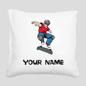 Skateboarder Square Canvas Pillow