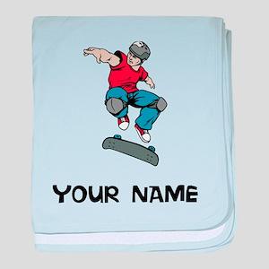 Skateboarder baby blanket