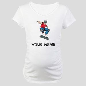 Skateboarder Maternity T-Shirt