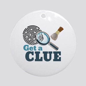 Get A Clue Round Ornament