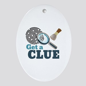 Get A Clue Oval Ornament