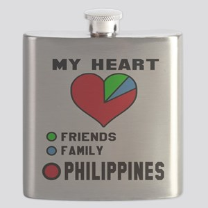 My Heart Friends, Family and Philippines Flask