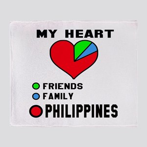 My Heart Friends, Family and Philipp Throw Blanket