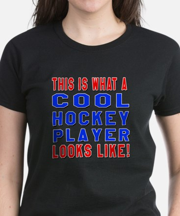 Hockey Player Looks Like Women's Dark T-Shirt