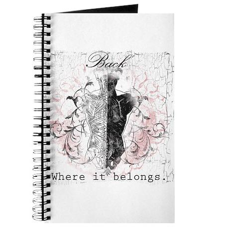 Back Where it Belongs Journal
