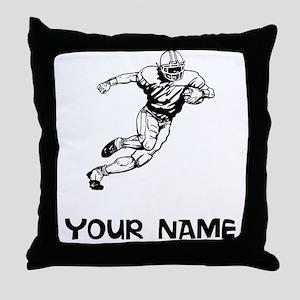 Running Back Throw Pillow