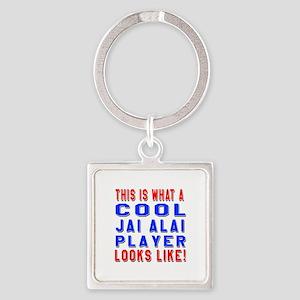 Jai Alai Player Looks Like Square Keychain