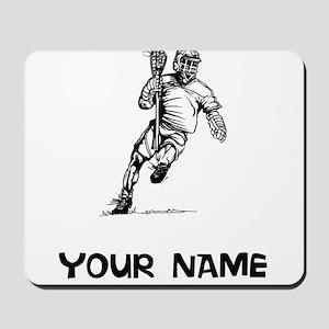 Lacrosse Player Mousepad