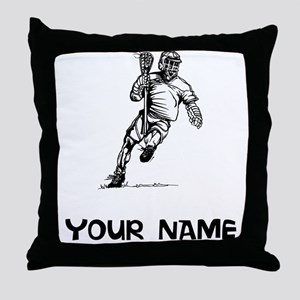 Lacrosse Player Throw Pillow
