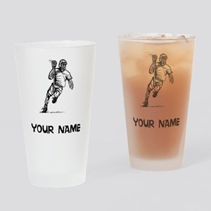 Lacrosse Player Drinking Glass