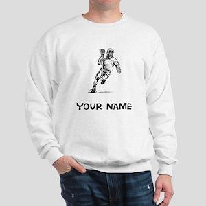Lacrosse Player Sweatshirt