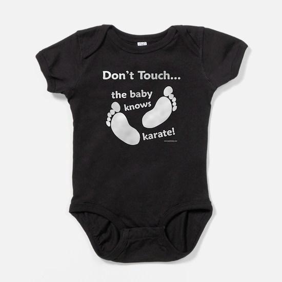 Karate Baby White Baby Bodysuit