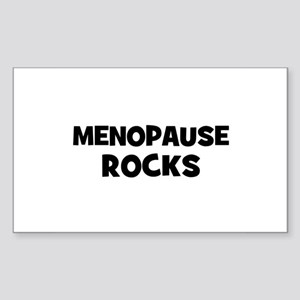 Menopause Rocks Rectangle Sticker