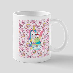 Unicorn Loves Ice Cream Mugs