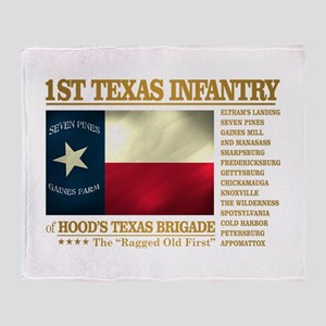 1st Texas Infantry (BH2) Throw Blanket