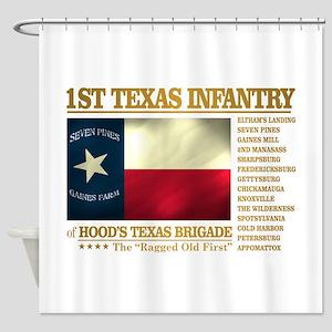 1st Texas Infantry (BH2) Shower Curtain