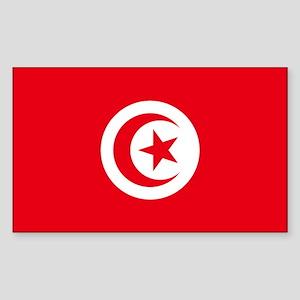 Tunisia Flag Sticker (Rectangle)