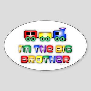 Big Bro Train Sticker (Oval)