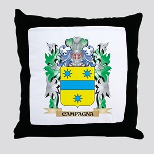 Campagna Coat of Arms - Family Crest Throw Pillow