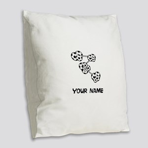Soccer DNA Burlap Throw Pillow