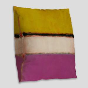 ROTHKO PINK ORANGE Burlap Throw Pillow