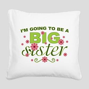 Big Sister Square Canvas Pillow