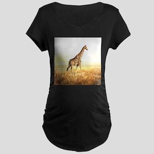 Giraffe Maternity Dark T-Shirt