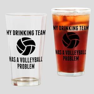 Drinking Team Volleyball Problem Drinking Glass
