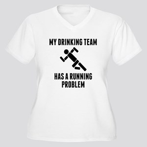 Drinking Team Running Problem Plus Size T-Shirt
