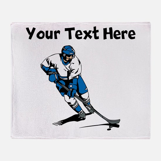 Hockey Player Throw Blanket