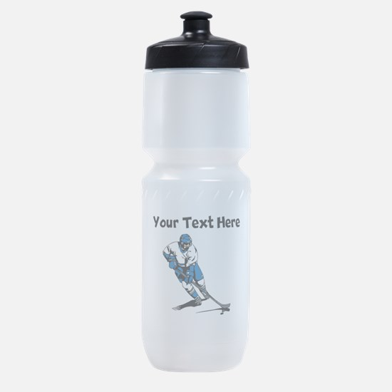 Hockey Player Sports Bottle