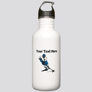 Hockey Player Water Bottle