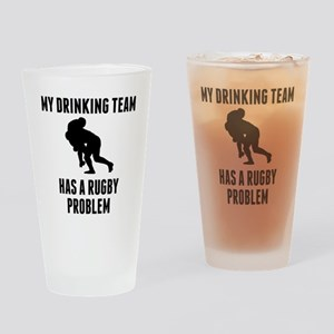 Drinking Team Rugby Problem Drinking Glass