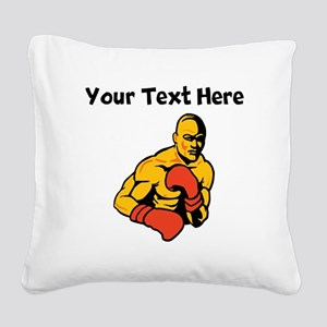 Boxer Square Canvas Pillow