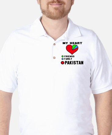 My Heart Friends, Family and Pakistan T-Shirt