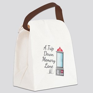 Memory Lane Canvas Lunch Bag