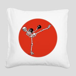 Kick! Square Canvas Pillow