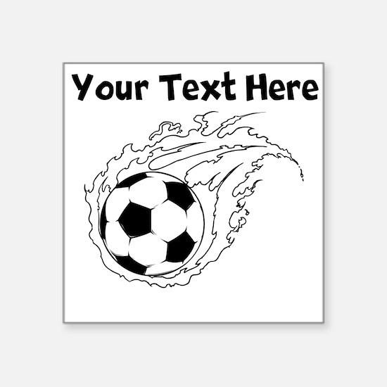 Flaming Soccer Ball Sticker