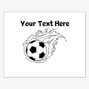 Flaming Soccer Ball Posters