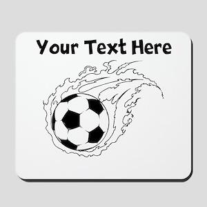 Flaming Soccer Ball Mousepad
