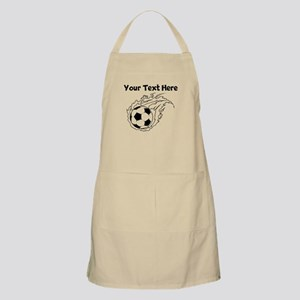 Flaming Soccer Ball Apron