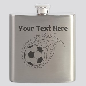 Flaming Soccer Ball Flask