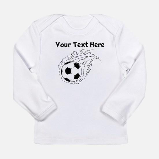 Flaming Soccer Ball Long Sleeve T-Shirt