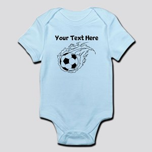 Flaming Soccer Ball Body Suit