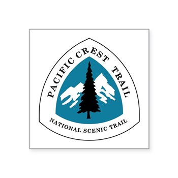 Pacific Crest Trail, Califo Square Sticker 3