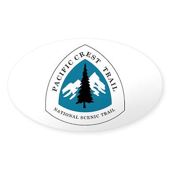 Pacific Crest Trail, California Sticker (Oval)