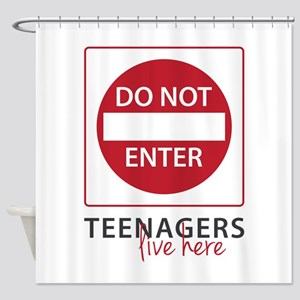 Teenagers Live Here Shower Curtain